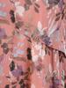 Luźna sukienka z szyfonu, zwiewna kreacja w modny, kwiatowy wzór 30715