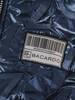Niebieska połyskująca kurtka zapinana na suwak 28624