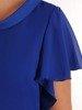 Oryginalna wizytowa sukienka, chabrowa kreacja z półgolfem 26777
