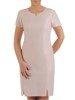 Pastelowa sukienka z żakardowym żakietem 24808