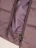 Pikowany płaszcz damski z ozdobnym futerkowym kołnierzem  30646