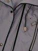 Popielata kurtka z ozdobnymi zamkami 24639