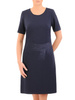 Prosta sukienka z ozdobną aplikacją 30808