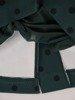 Prosta sukienka z ozdobnym kołnierzem, jesienna kreacja z guzikami 23739