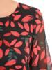 Rozkloszowana sukienka, modna kreacja w roślinny deseń 30521