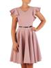 Rozkloszowana sukienka z dekoracyjnymi rękawami 26480
