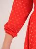 Rozkloszowana sukienka z kopertowym dekoltem 28643