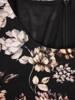 Rozkloszowana sukienka z paskiem, kreacja w kwiaty 27338