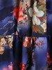 Rozkloszowana sukienka z tkaniny, kreacja z gumką w pasie i falbaną 24616