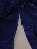 Sukienka chabrowa, połyskująca kreacja z wytłaczanej dzianiny 24584