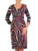 Sukienka codzienna, prosta kreacja w geometrycznym wzorze 27692