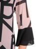 Sukienka damska z szyfonu w oryginalny wzór 29219