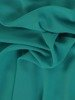 Sukienka damska, zielona kreacja z oryginalnymi rękawami 26809