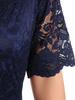 Sukienka koktajlowa maksi, granatowa kreacja z koronkową górą 30883