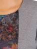 Sukienka koktajlowa, wyszczuplająca kreacja z łączonych tkanin 27040