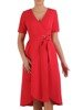 Sukienka kopertowa, czerwona kreacja wiązana w pasie 25471