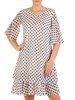 Sukienka w grochy, zwiewna kreacja z szyfonu 26070