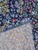 Sukienka w kwiatki, prosty fason z dekoltem w serek 25960