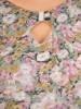 Sukienka w kwiaty, kreacja w luźnym fasonie 30489