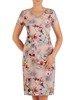 Sukienka w kwiaty, prosta kreacja z tkaniny 26656