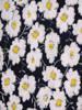 Sukienka w kwiaty, prosty fason z dekoltem w serek 28815