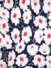 Sukienka w w kwiaty, prosty fason z dekoltem w serek 28809