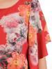 Sukienka w wyszczuplającym fasonie, zwiewna kreacja w kwiaty 29916