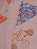 Sukienka wiosenna, zwiewna kreacja z ozdobną falbaną 25435