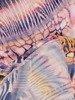 Sukienka z dzianiny, prosta kreacja w oryginalnym wzorze 26211