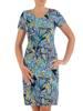 Sukienka z dzianiny, prosta kreacja w oryginalnym wzorze 26399