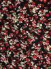 Sukienka z dzianiny, rozkloszowana kreacja w kwiaty 30442
