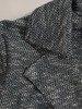 Sukienka z paskiem, jesienna kreacja z melanżowej dzianiny 23718