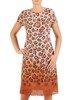 Sukienka z szyfonu, prosta kreacja w modnym wzorze 26646