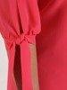 Sukienka z szyfonu, wiosenna kreacja z ozdobnymi rękawami 25791