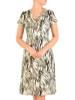 Sukienka z tkaniny, letnia kreacja w oryginalny wzór 30182
