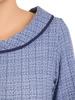 Sukienka z tkaniny na jesień, kreacja z imitacją kieszeni 30696