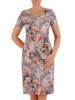Sukienka z tkaniny, prosta kreacja w oryginalnym wzorze 26484