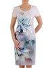 Sukienka z tkaniny, wiosenna kreacja w kwiaty 25639
