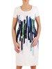 Sukienka z tkaniny, wiosenna kreacja w wyszczuplającym wzorze 25652