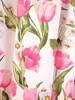 Sukienka z tkaniny, zwiewna kreacja w kwiaty 29776