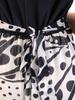Suknia kopertowa, wyjściowa kreacja w oryginalny wzór 30790