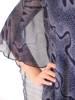 Szyfonowa, granatowa sukienka maskująca niedoskonałości 29953