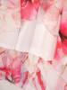Szyfonowa sukienka damska, kreacja w rozkloszowanym fasonie 30002