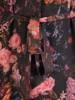 Szyfonowa sukienka w kwiaty, kreacja z bufiastymi rękawami 30482