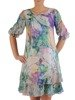 Trapezowa sukienka w pastelowych kolorach 25453