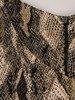 Wężowa sukienka z modnymi piórami, krótka sukienka na wieczór 23365