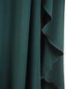 Wieczorowa sukienka maksi, kreacja z kopertowym dekoltem 30826