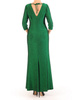 Wieczorowa suknia maxi z połyskującej dzianiny 30553