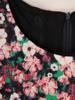 Wizytowa sukienka damska, kreacja w luźnym fasonie 30187
