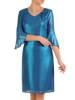 Wizytowa sukienka damska, kreacja z połyskującego szyfonu 29728